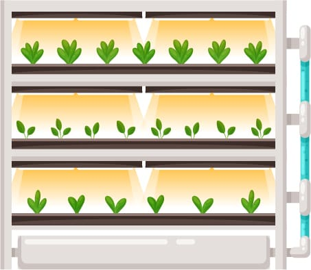 Схематическое изображение небольшой вертикальной фермы